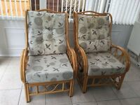 2 Chairs for sale £80 perfect for conservatory or summer house