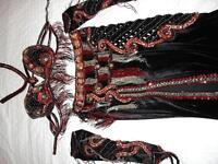 "Belly Dance Professional Costume ""Casino Royale in Velvet"""
