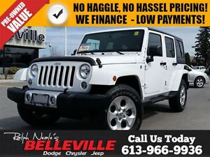 2014 Jeep Wrangler Sahara-Dual Tops-max tow Package