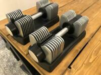Brand New Pair 25KG Of Adjustable Dumbbells for home gym weights