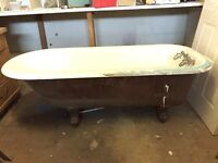 "Vintage Cast Iron Claw Footed ""Money making"" Bath Tub"