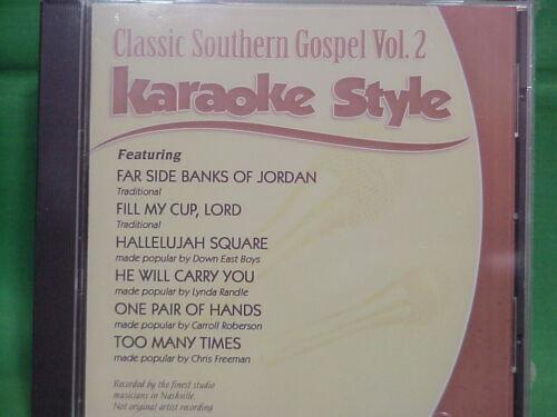 Classic Southern Gospel Volume #2  Christian  Daywind  Karaoke Style  CD+G  NEW