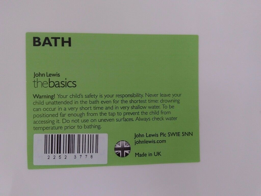 Brand new Baby bath from John Lewis