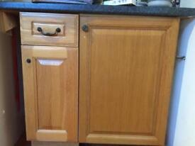 Kitchen cabinets with real wood doors for sale