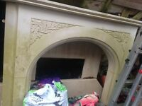 Perfect condition fire surround & mantel shelf. Solid structure. Detailed pattern. Standard size.
