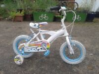 Girls Little Panda Pals 12 inch Bike with Stabilizers