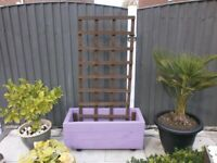 Garden Planter Hand Made With Trellis