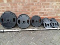 120KG OLYMPIC WEIGHTS SET & BAR