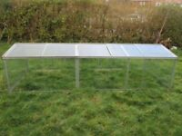 Cold frame 10 x 4 with all glass aluminium 'bs11 collection'