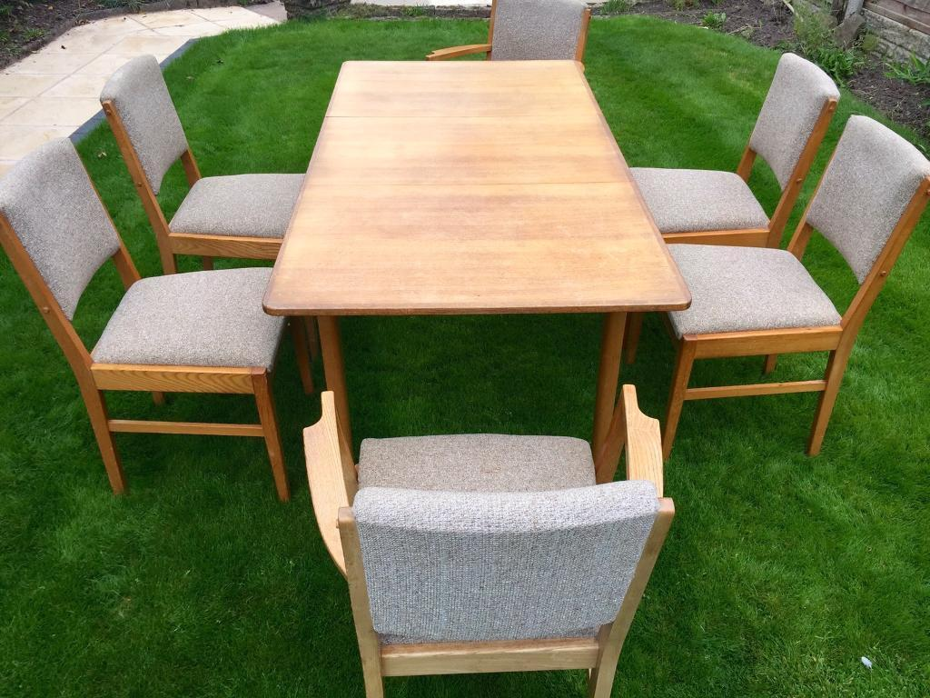 Gordon Russell Coffee Table Oak Dining Table And 6 Chairs By Gordon Russell 1960s In Wirral