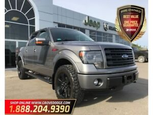 2014 Ford F-150 Leather/Suede  Low KM  Sunroof  Remote Start