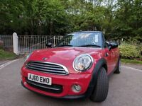 Mini one convertible 2010, 1.6 petrol 57000 miles