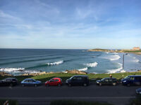 Double room with own bathroom in Pentire. Great views