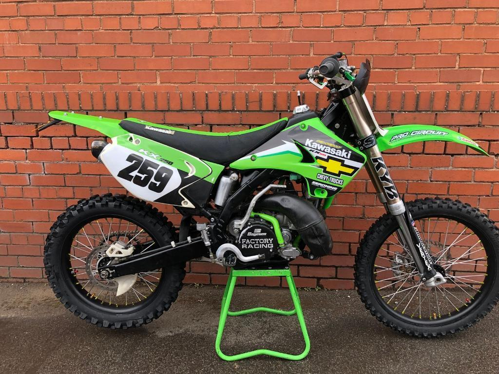 Kawasaki kx250 road legal kx 250 road registered mx enduro