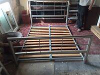 Bed frame 4ft6 no mattress ex con