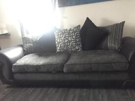 Sofa-4 seater charcoal/black
