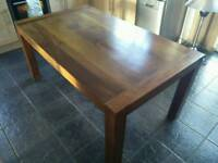 6 seater dark wood dining table