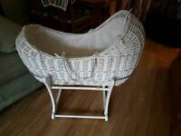 Immaculate moses basket
