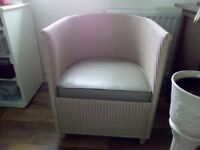 Lloyd loom Art deco style chair, immaculate condition.