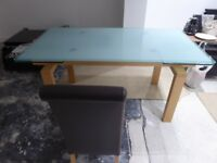 6 seater Calligaris made in italy dinning room table & 6 chairs