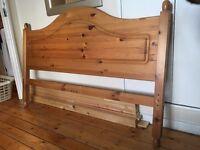 Wooden double bed - oak 69£