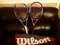 Wilson Tennis Rackets & Wilson Racket Bag