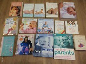 15 pregnancy, baby, feeding, toddler books - Gina Ford, Annabel Karmel, Supernanny