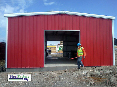 Made In Usa - Steel Factory Mfg Prefab 30x30x12 Metal Garage Building Kit New