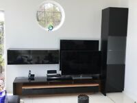 Calligaris Black Gloss LED Entertainment Centre