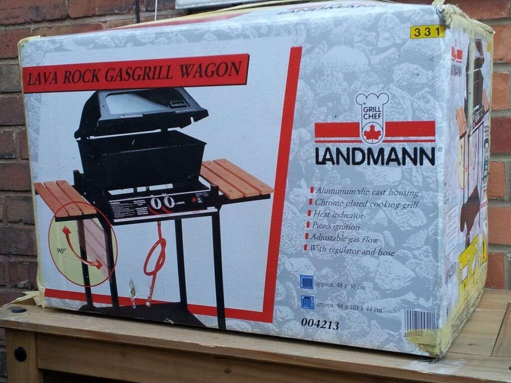 landmann gas grill lava rock barbecue, new and unused | in beeston