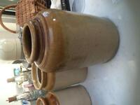 Mason stone jar, utensil holder, vase