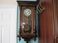 Antique 8 day quarter chiming wall clock