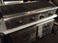 COMMERCIAL CATERING 120 CM -4 FEET LONG FLAME CHAR GRILL KEBAB BBQ PERI PERI CHICKEN FAST FOOD SHOP