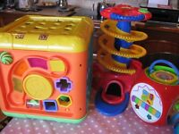 3 Sturdy Toddler Activity Toys in Brilliant Condition ideal for Boys or Girls