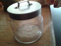 Glass Storage Jars x 2