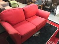 NICE RED FABRIC SOFA BED
