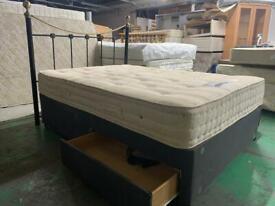 Double divan bed with 2 draws SLEEPEEZZEE matress plus headboard