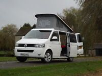 VW T5 Transporter with brand new camper conversion with air conditioning and diesel heating