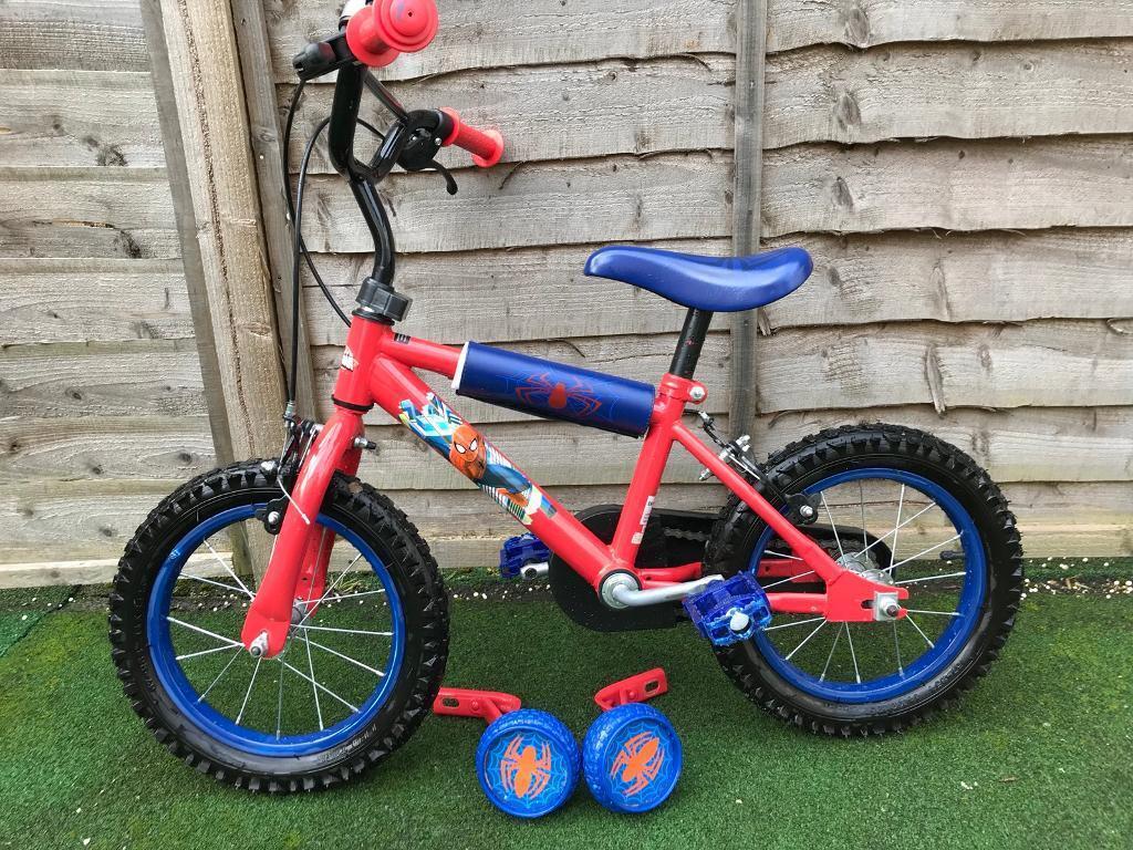 """Spider-Man children's bike 14"""" wheels"""