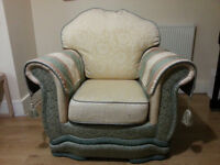 Comfortable and sturdy armchair