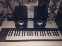 Alesis Speaker Monitors & M-Audio Keyboard!