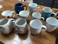 Assortment of 10 mugs cups m&s M&ms next owl