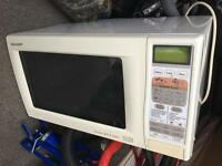 Sharp double microwave oven and grill works well £40