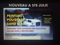 Peinture-polissage- sand blast
