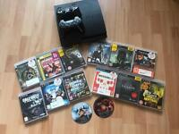 PS3, 2 controllers, 14 games
