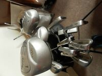 Set of Dunlop golf clubs with bag, balls, glove, tees etc - DAVEBSALE