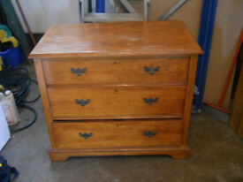 OLD PINE CHEST OF DRAWS