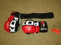 RDX MMA sparing gloves.