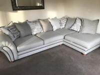 DFS 'Ranch' corner sofa, swivel chair & footstool *PLUS GUARDSMAN FABRIC COVER'
