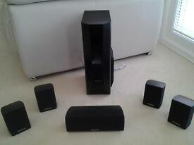 panasonic surround sound speakers and sub woofer